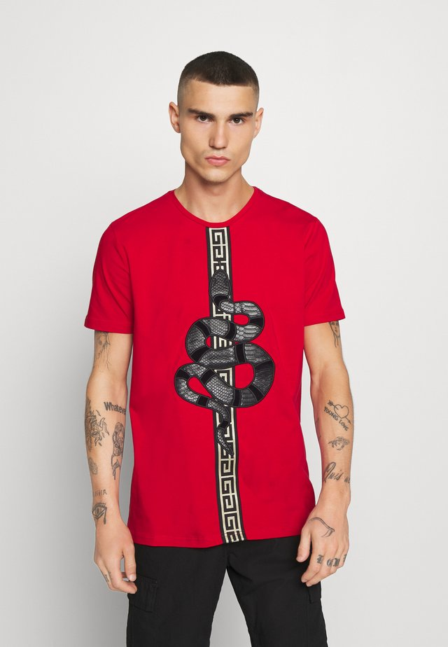 DEVANEY  - Printtipaita - red