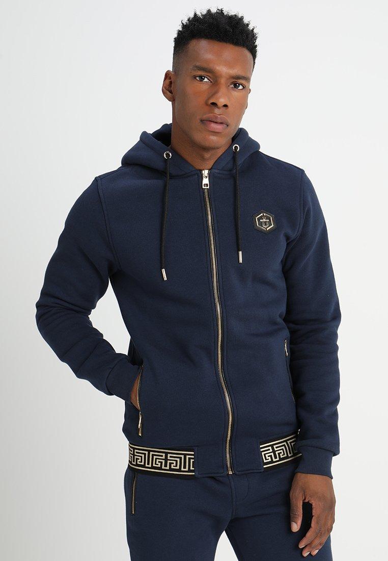 Glorious Gangsta - SCART HOOD - Zip-up hoodie - navy