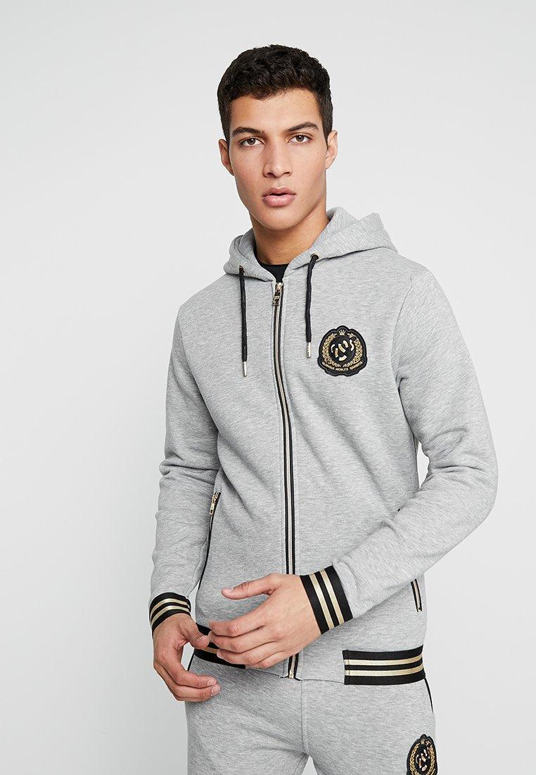 Glorious Gangsta - PROMPT - Zip-up hoodie - grey