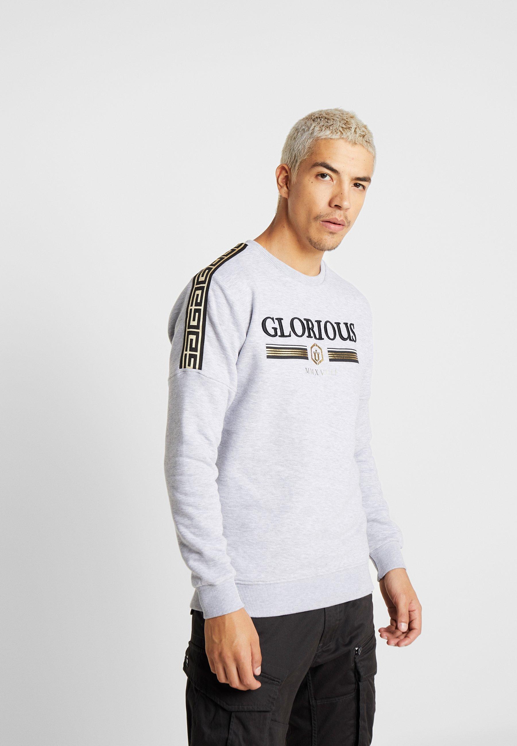 Gangsta Gangsta CrewSweatshirt Grey Kalk Glorious Grey Glorious CrewSweatshirt Kalk Glorious Gangsta nXN0kw8OP