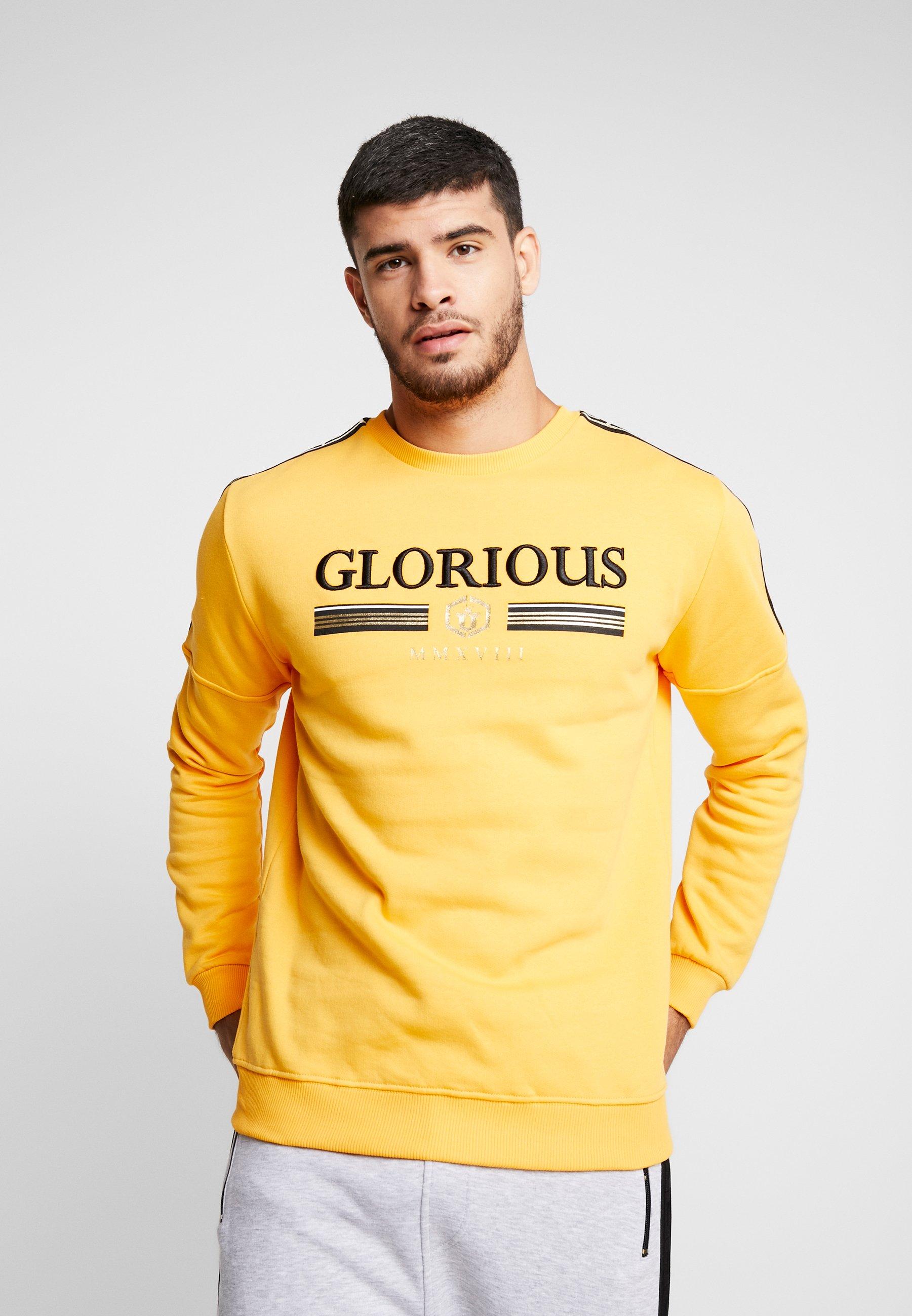 Glorious Glorious Gangsta CrewSweatshirt Gangsta Kalk Yellow gfY7y6b