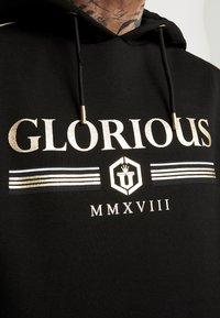 Glorious Gangsta - KALK LOGO HOODIE - Luvtröja - black - 6
