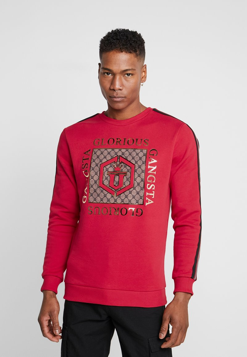 Glorious Gangsta - VETICA LOGO  - Felpa - red