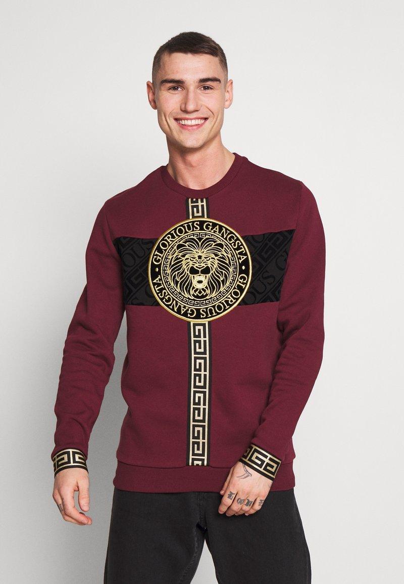 Glorious Gangsta - GLORIOUS GANGSTA DRACO - Sweatshirt - burgundy