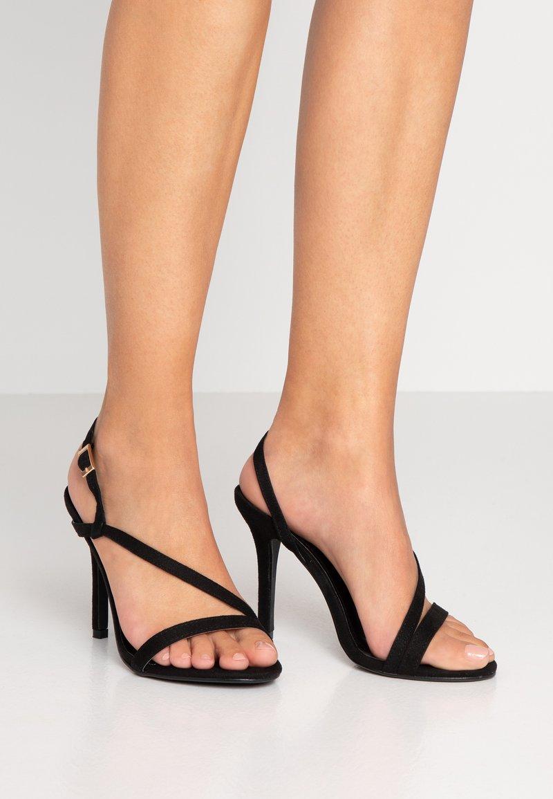 Glamorous Wide Fit - Korolliset sandaalit - black