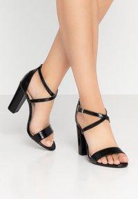 Glamorous Wide Fit - Sandály na vysokém podpatku - black - 0