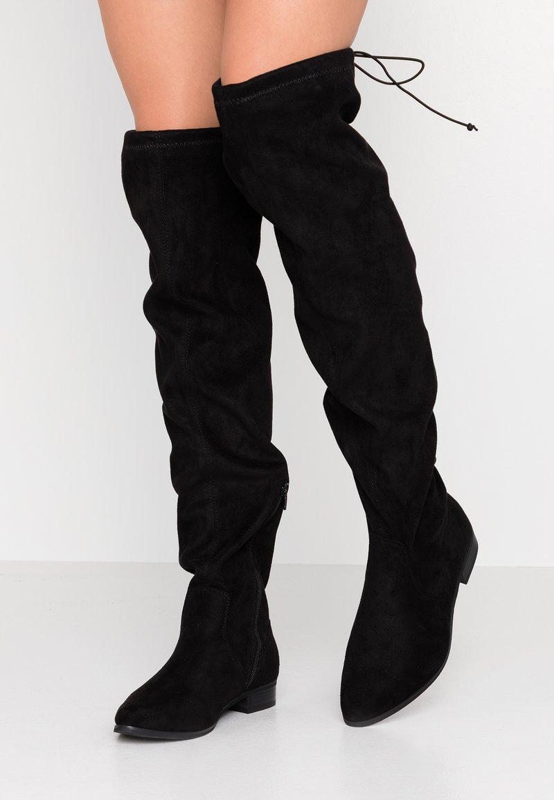 Glamorous Wide Fit - Kozačky nad kolena - black