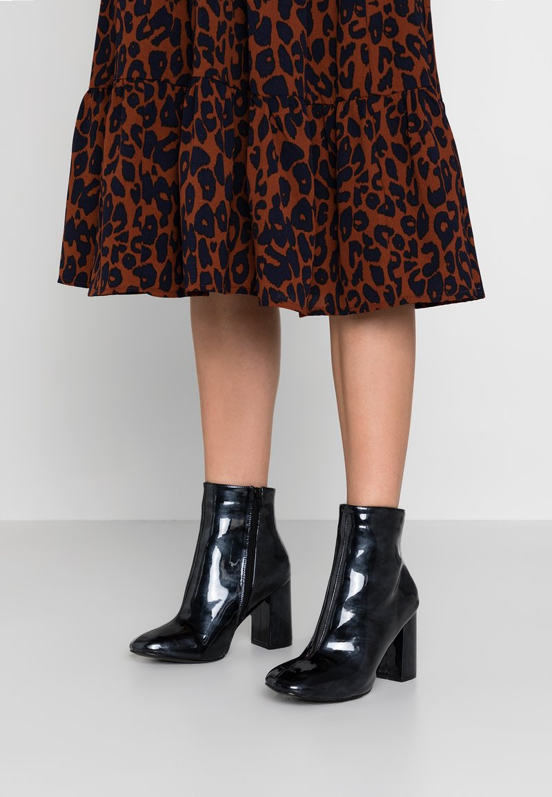 Glamorous Wide Fit - High heeled ankle boots - black