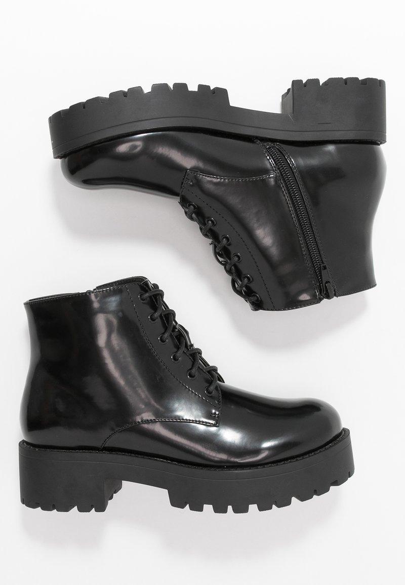 Glamorous Wide Fit - Platåstøvletter - black