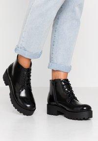 Glamorous Wide Fit - Platåstøvletter - black - 1