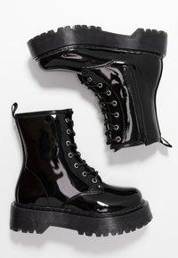 Glamorous Wide Fit - Kotníkové boty na platformě - black - 3