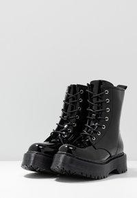 Glamorous Wide Fit - Kotníkové boty na platformě - black - 4