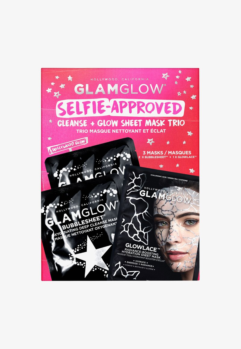 Glamglow - SELFIE-APPROVED: CLEANSE - SHEET MASK TRIO - Skincare set - -