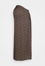 MIDI SKIRT SPOT - A-line skirt - brown/cream