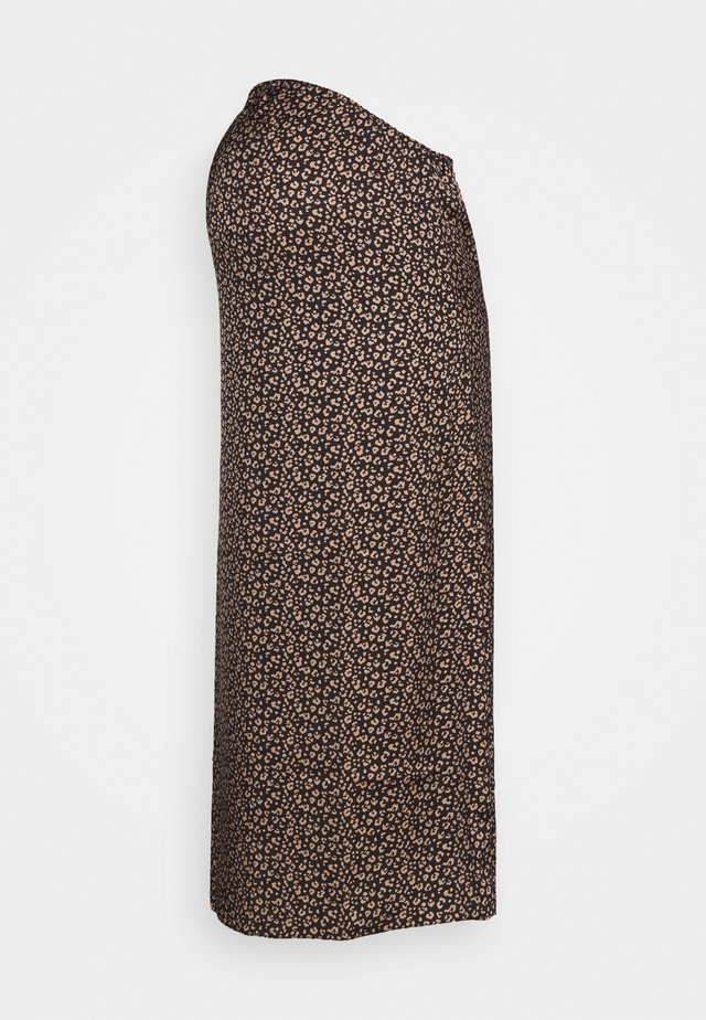 MIDI SKIRT SPOT - A-lijn rok - brown/cream