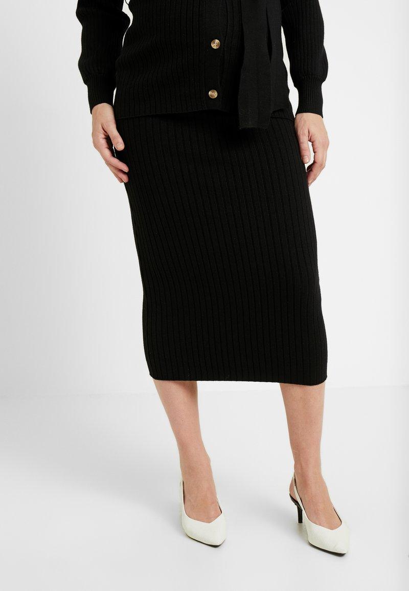 Glamorous Bloom - SKIRTS - Pouzdrová sukně - black