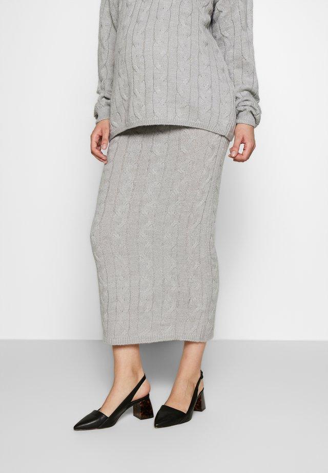 CABLE SKIRT - Blyantnederdel / pencil skirts - grey
