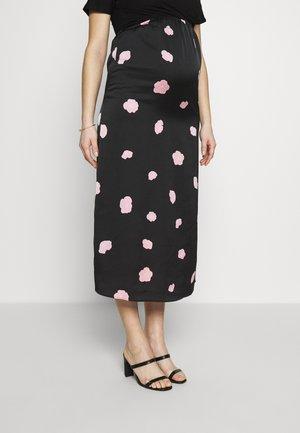 CARE SLIP SKIRT - Maxi skirt - black