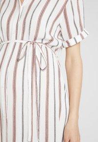 Glamorous Bloom - SHORT SLEEVE MIDI DRESS WITH BELT - Sukienka koszulowa - white - 4