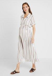 Glamorous Bloom - SHORT SLEEVE MIDI DRESS WITH BELT - Sukienka koszulowa - white - 0
