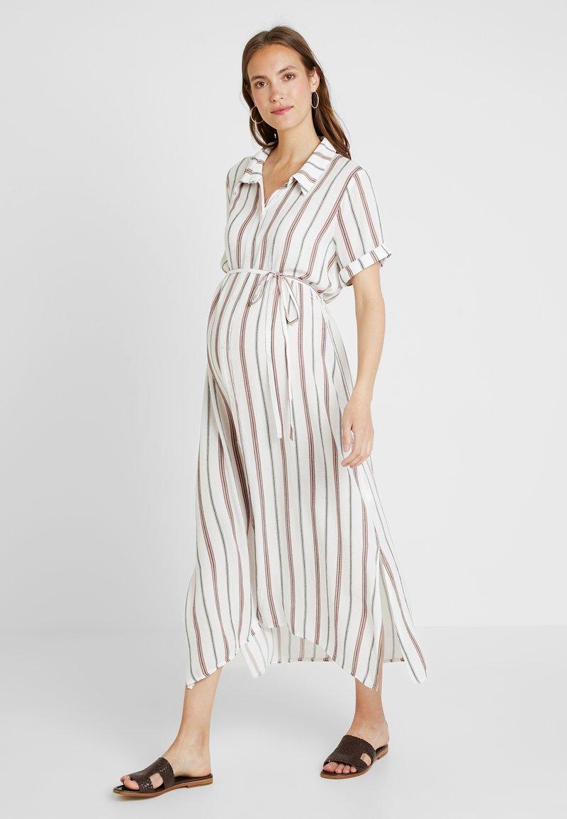 Glamorous Bloom - SHORT SLEEVE MIDI DRESS WITH BELT - Vestido largo - white