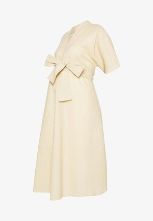LOOK SHORT SLEEVE MIDI DRESS - Sukienka letnia - stone
