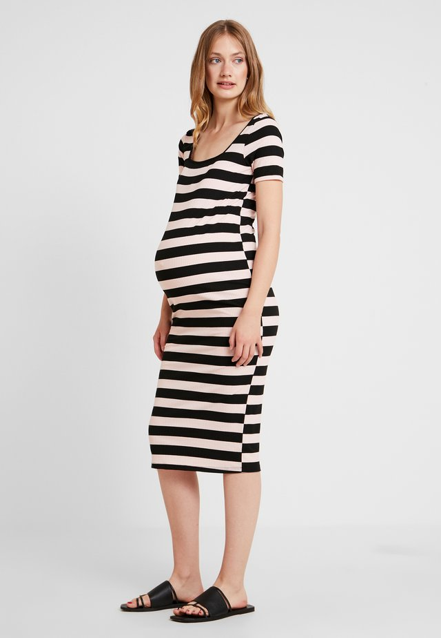 TUBE DRESS WITH SQUARE NECK - Jerseykjole - black /nude