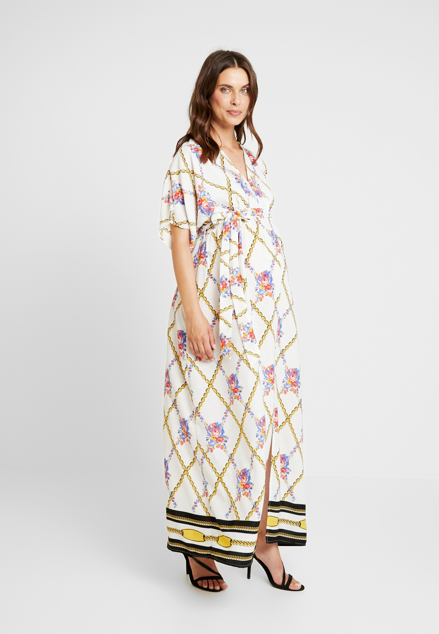 Bloom DressRobe Glamorous Scarf White Print Longue vNm08wn
