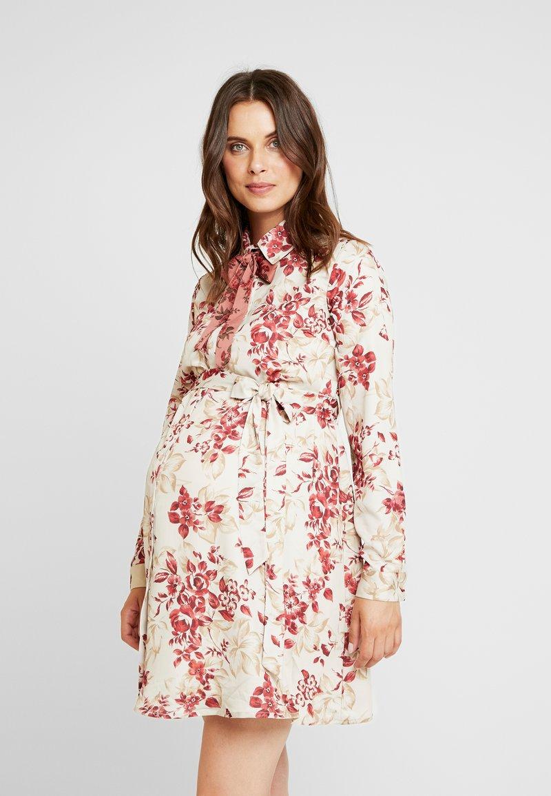 Glamorous Bloom - BOW DRESS - Blousejurk - beige vintage