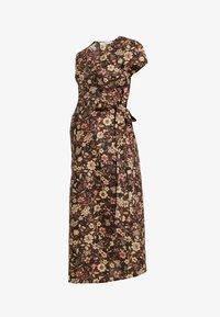 Glamorous Bloom - SHORT SLEEVE TRUE WRAP DRESS - Kjole - brown - 4