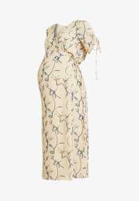 Glamorous Bloom - MIDI V NECK WRAP FLORAL DRESS - Korte jurk - ochre grey - 4