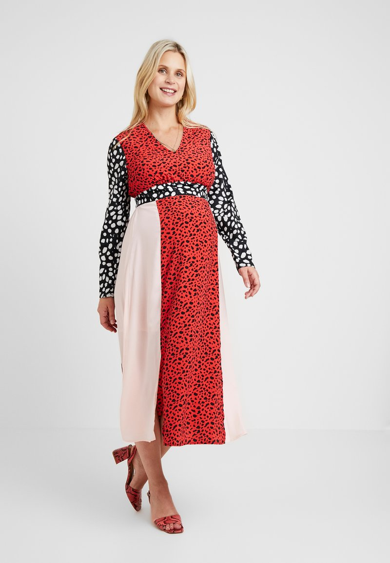Glamorous Bloom - LONG SLEEVE MIDI DRESS - Kjole - multi