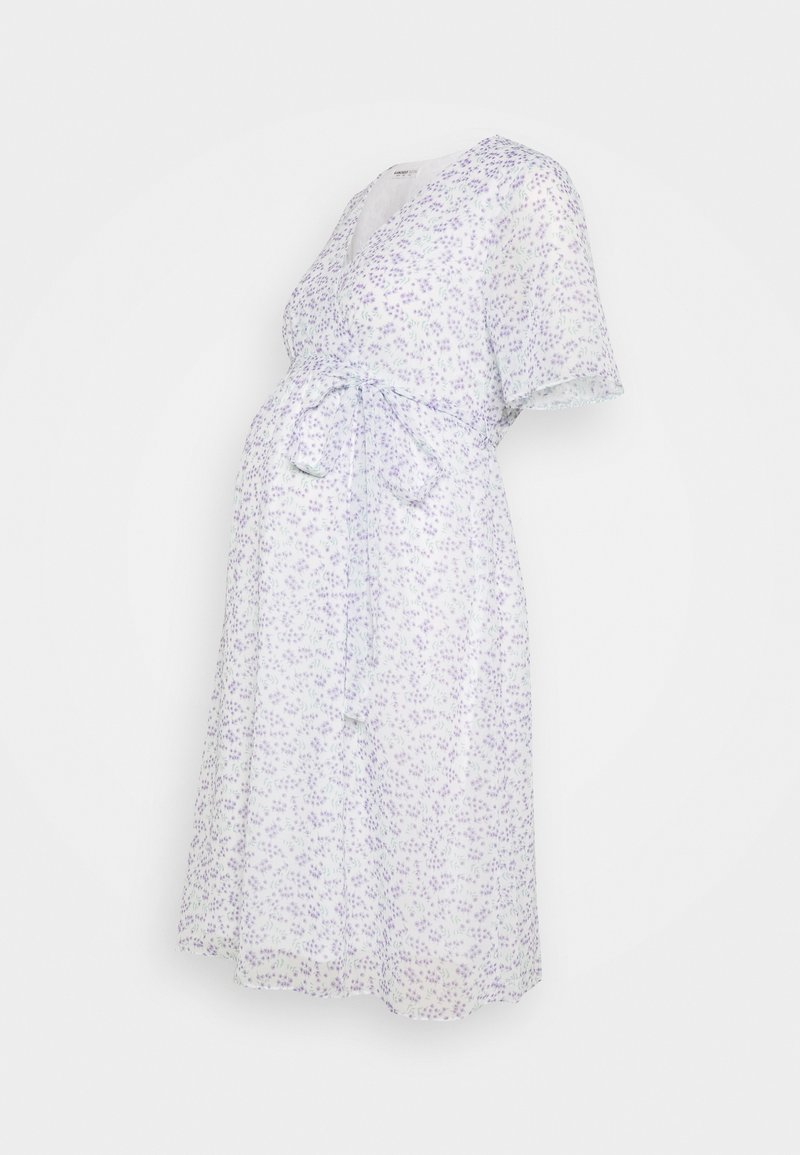 Glamorous Bloom - PIN SPOT WRAP DRESS - Denní šaty - white/lavender