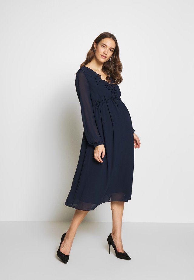 MIDI LONGSLEEVE DRESS - Vestito estivo - navy