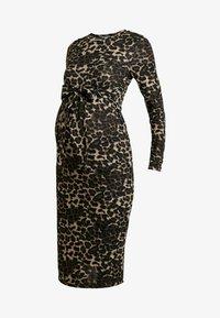 Glamorous Bloom - DRESS - Pletené šaty - brown - 5