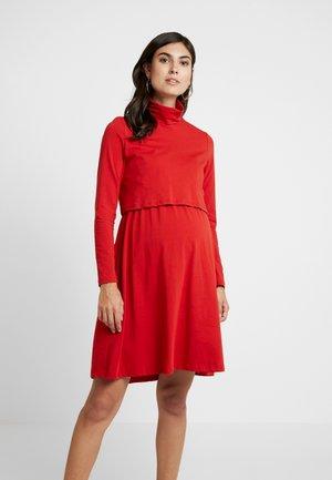 DRESS - Žerzejové šaty - dark rust