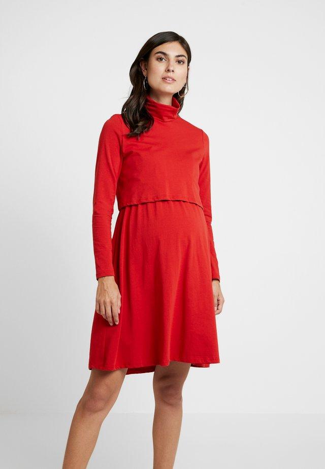 DRESS - Jerseykjole - dark rust