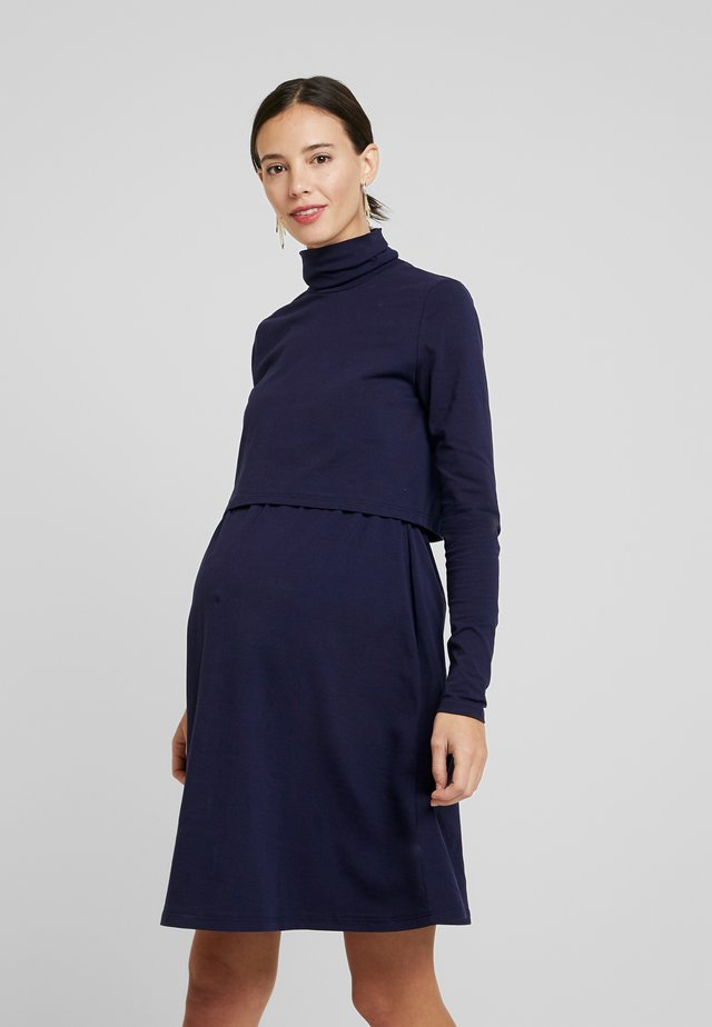 DRESS - Jersey dress - navy