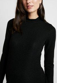 Glamorous Bloom - SPARKLE MAXI DRESS - Pletené šaty - black - 7