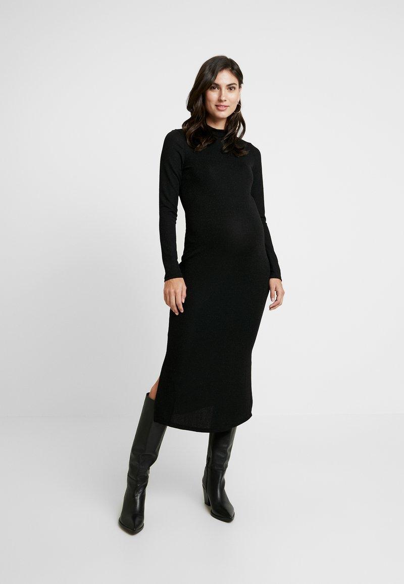 Glamorous Bloom - SPARKLE MAXI DRESS - Pletené šaty - black