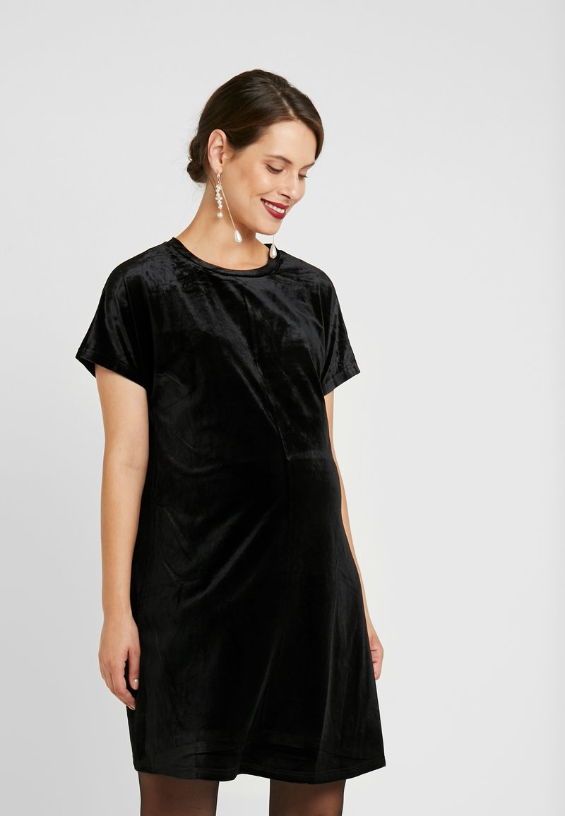 Glamorous Bloom - DRESSES - Žerzejové šaty - black velvet