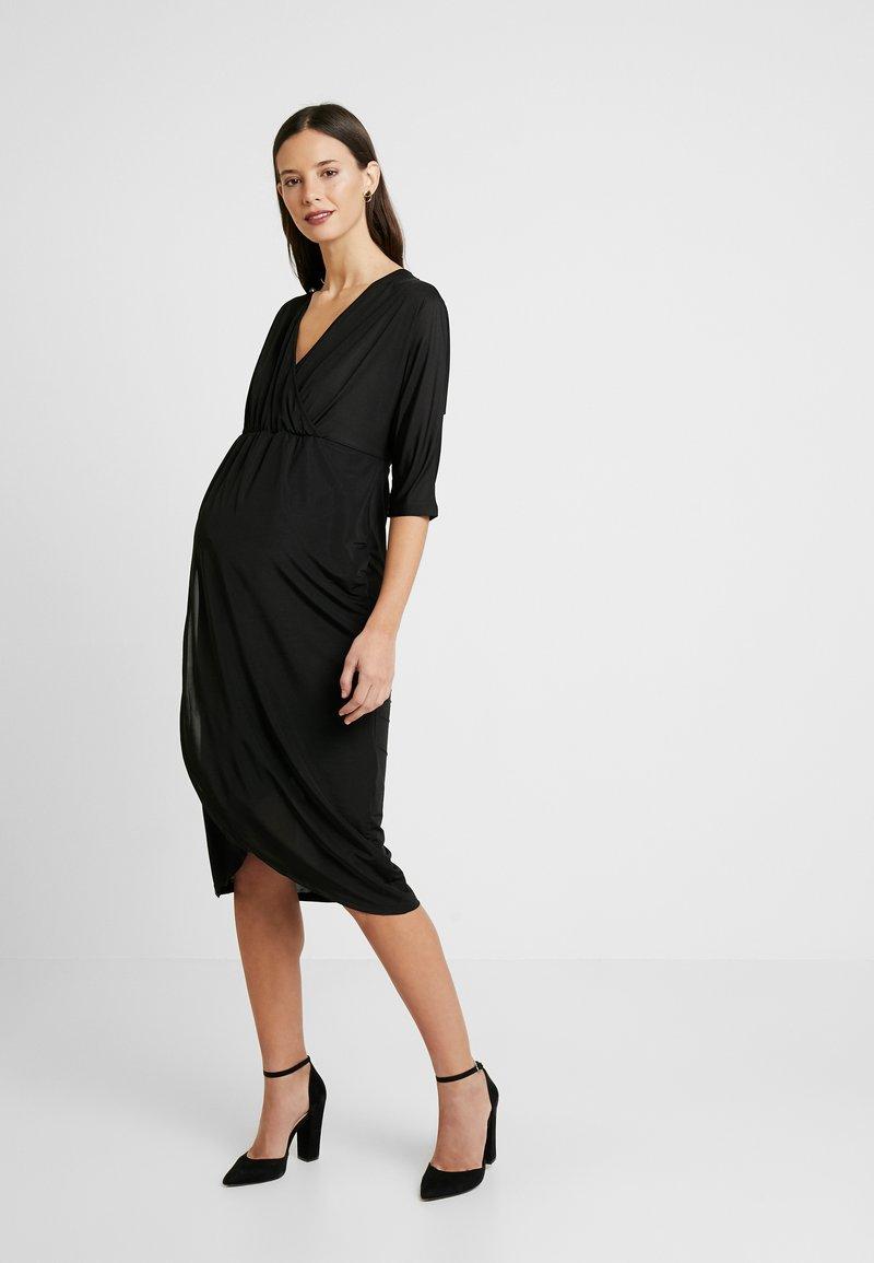 Glamorous Bloom - DRESS - Žerzejové šaty - black