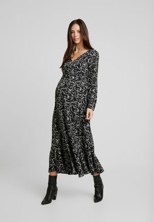 DRESS - Day dress - black cream winter ditsy