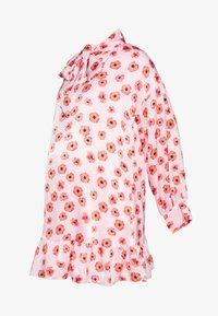 Glamorous Bloom - MINI PUSSYBOW DRESS - Day dress - pink - 0