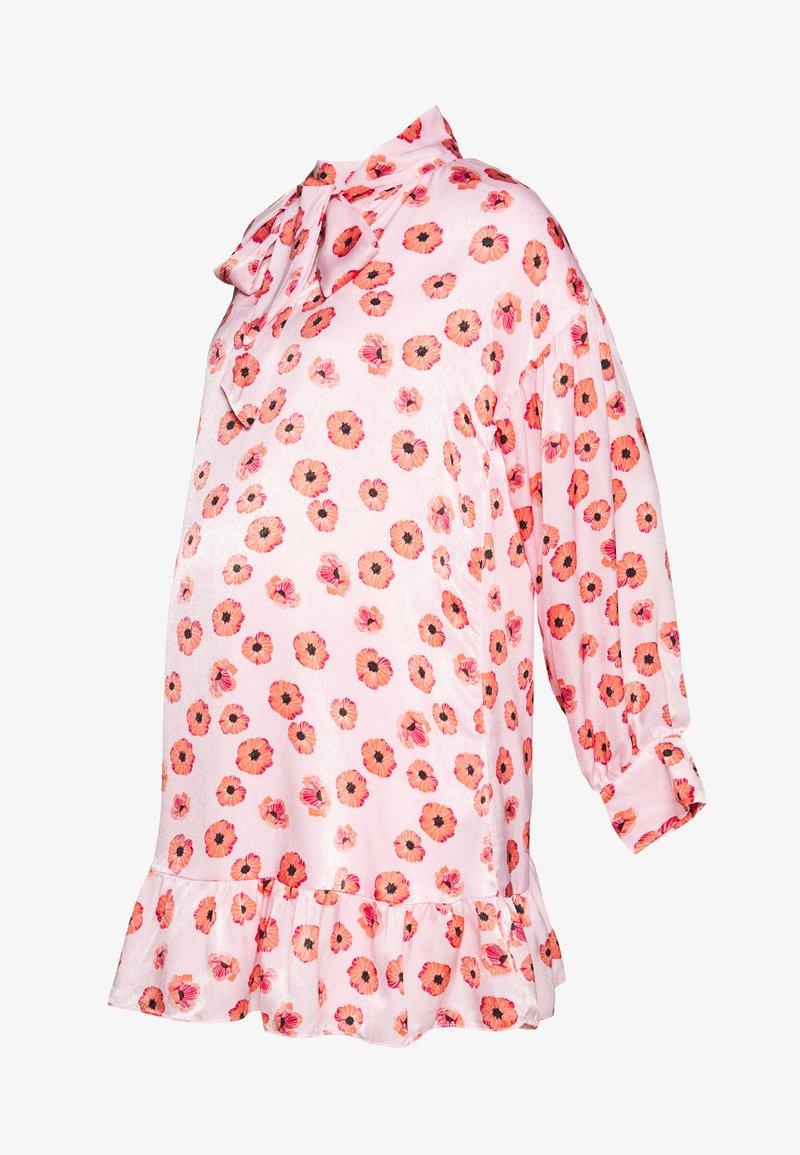 Glamorous Bloom - MINI PUSSYBOW DRESS - Day dress - pink