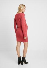 Glamorous Bloom - PLAIN NURSING DRESS - Vestido ligero - marsala - 2