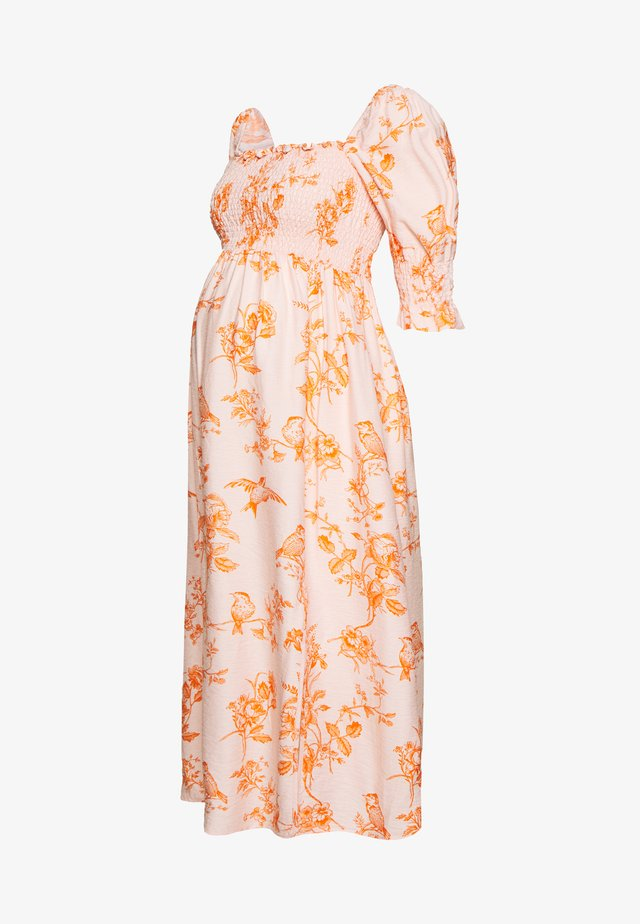 DRESS - Vapaa-ajan mekko - pink/orange