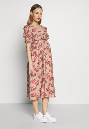 DRESS - Sukienka letnia - stone/rust flower