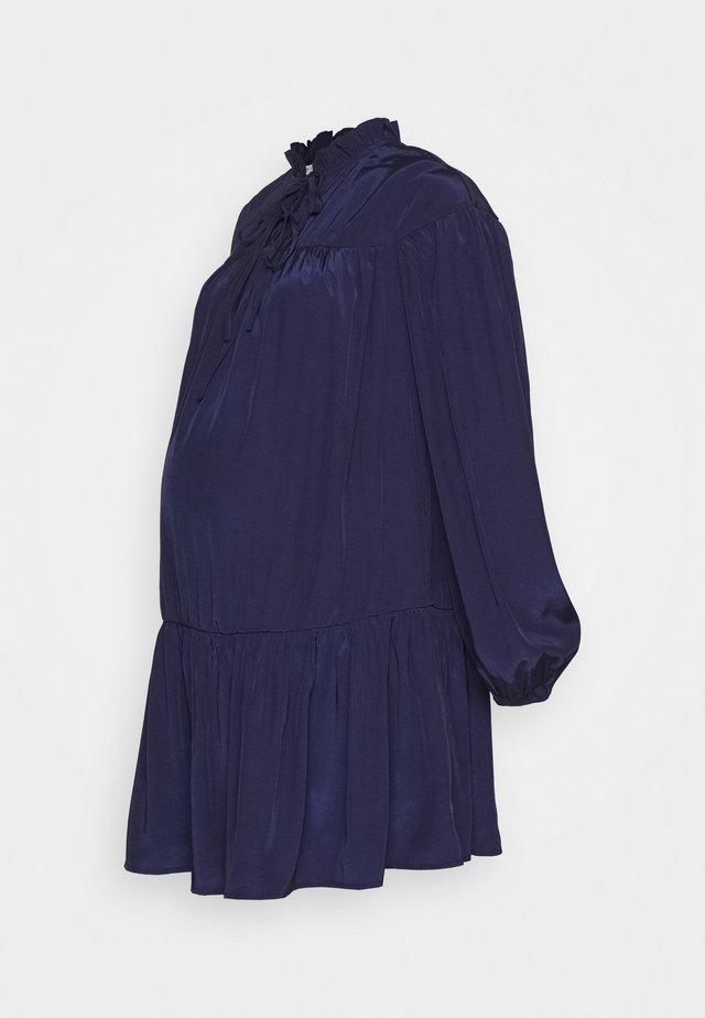 MINI PUSSYBOW DRESS - Sukienka letnia - navy