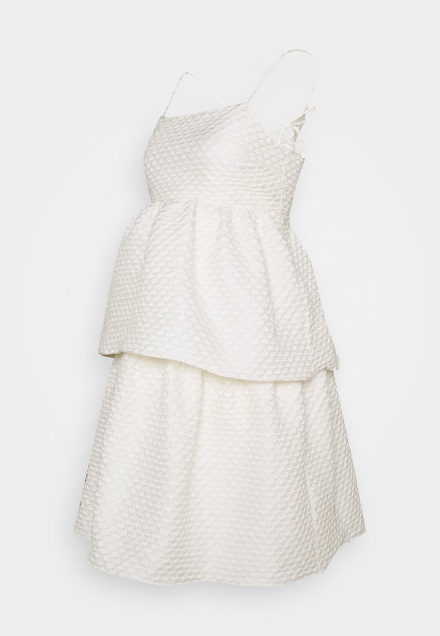 TIEREDWOW STRAPPY OPEN BACK DRESS - Cocktail dress / Party dress - cream